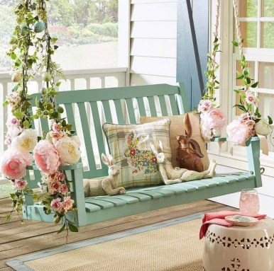 Best Easter Front Porch Decor Ideas 03