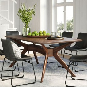48 Elegant Modern Dining Table Design Ideas - HOMYHOMEE