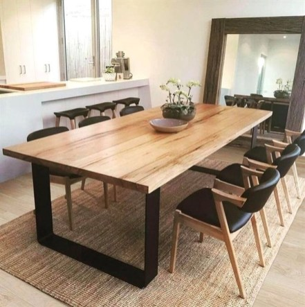 Elegant Modern Dining Table Design Ideas 16