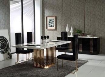 Elegant Modern Dining Table Design Ideas 17