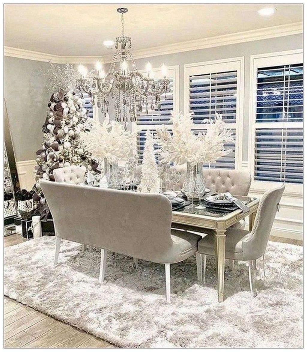 Beautiful Winter Dining Room Table Decor Ideas Which You Definitely Like 48