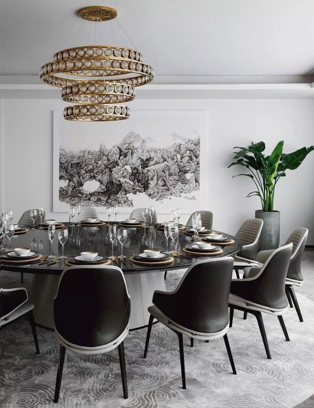 Popular Contemporary Dining Room Design Ideas 19