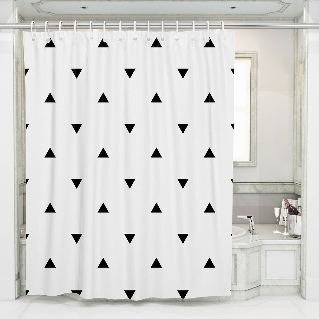 Amazing Black And White Shower Curtain For Your Bathroom Decor 22