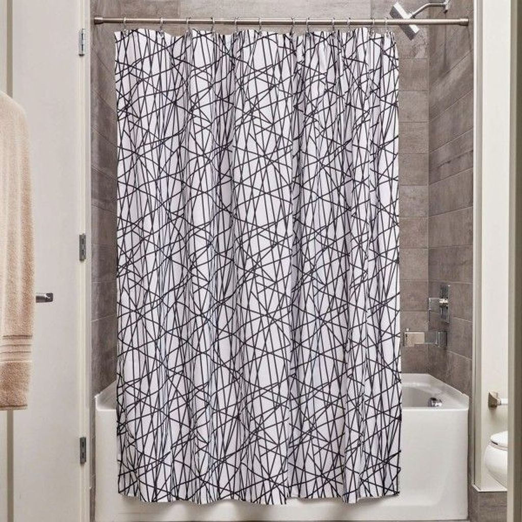 Amazing Black And White Shower Curtain For Your Bathroom Decor 23