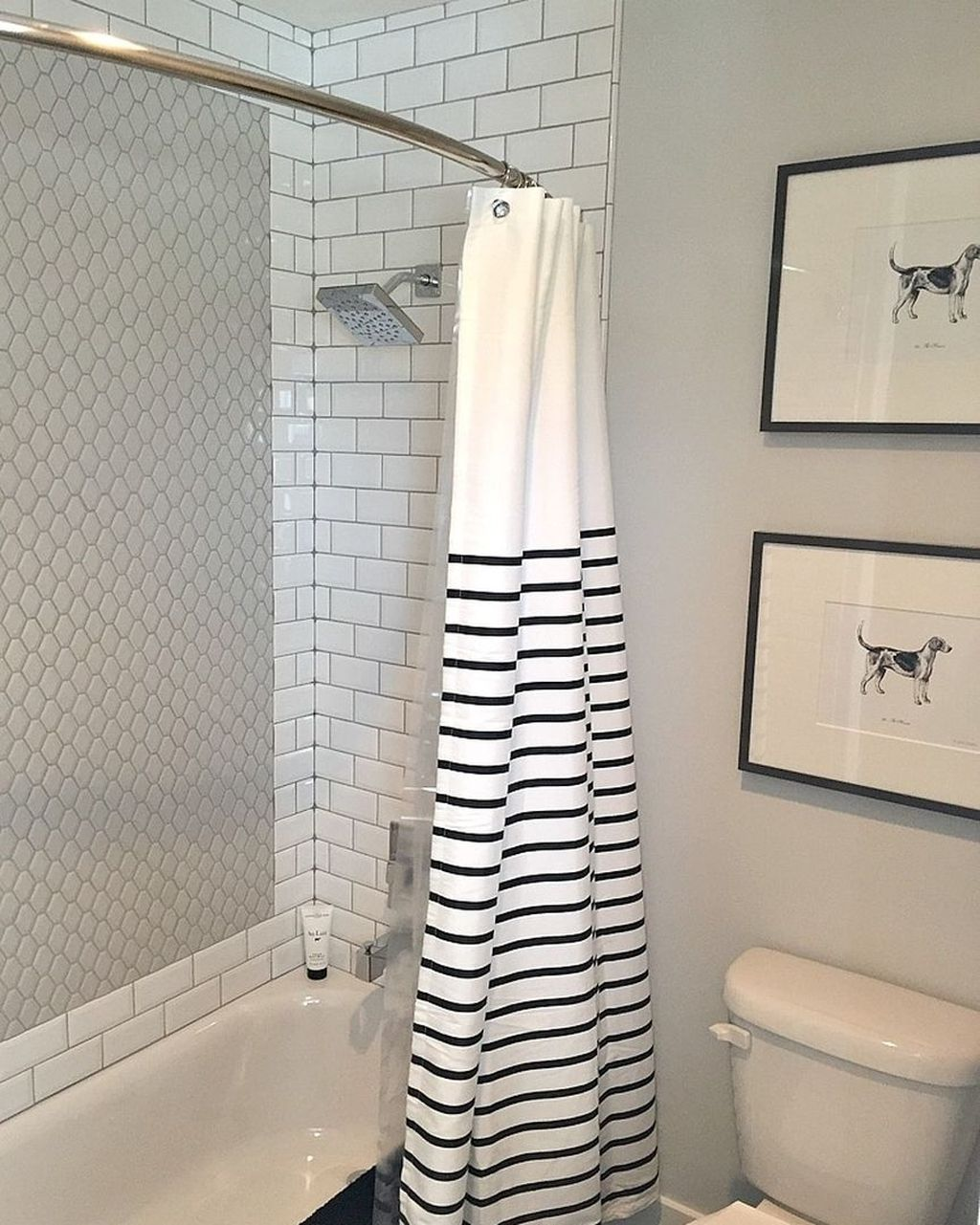 Amazing Black And White Shower Curtain For Your Bathroom Decor 25
