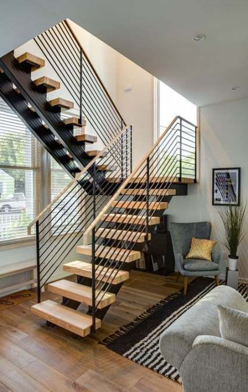 Brilliant Staircase Design Ideas To Beautify Your Interior 09