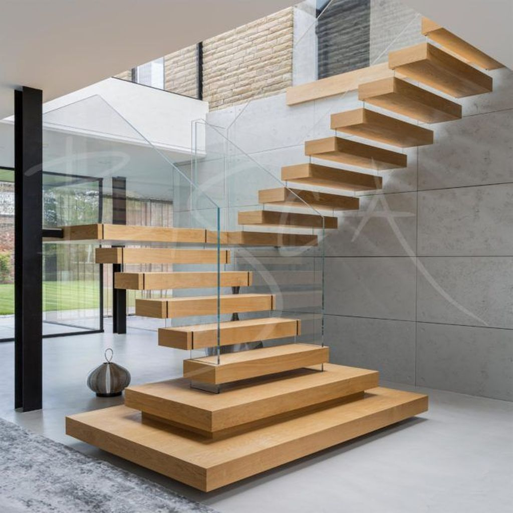Brilliant Staircase Design Ideas To Beautify Your Interior 22