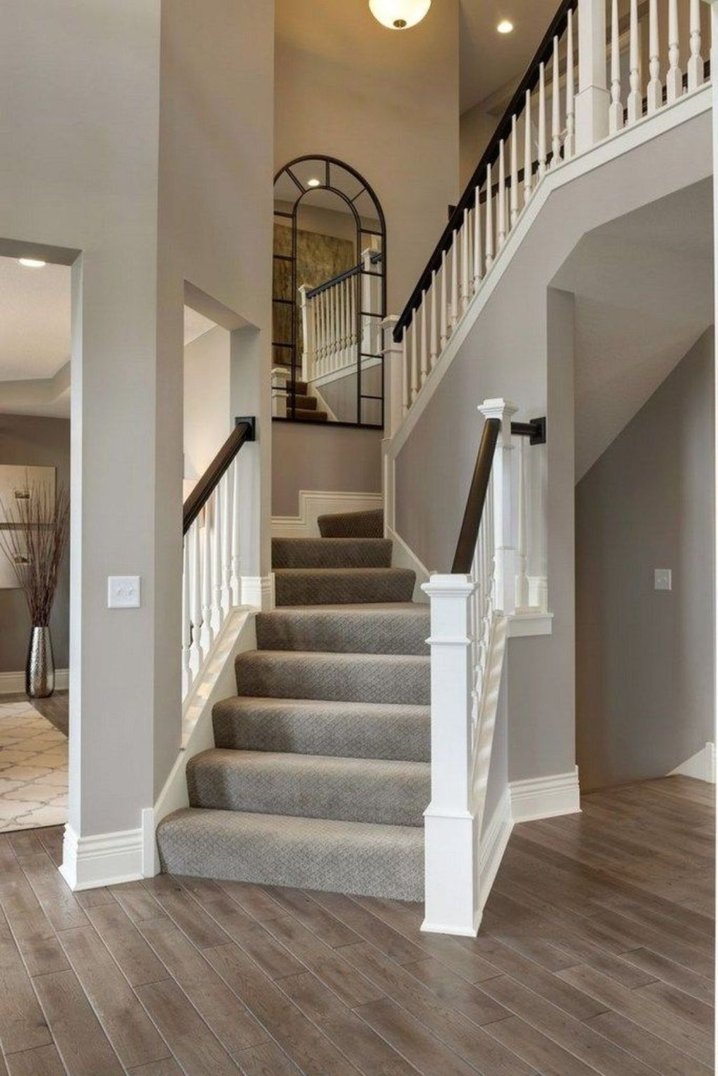 Brilliant Staircase Design Ideas To Beautify Your Interior 24