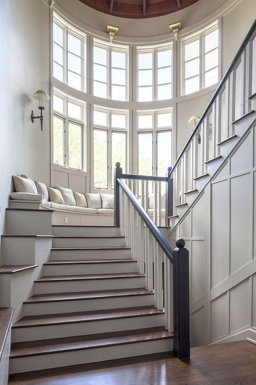 Brilliant Staircase Design Ideas To Beautify Your Interior 31