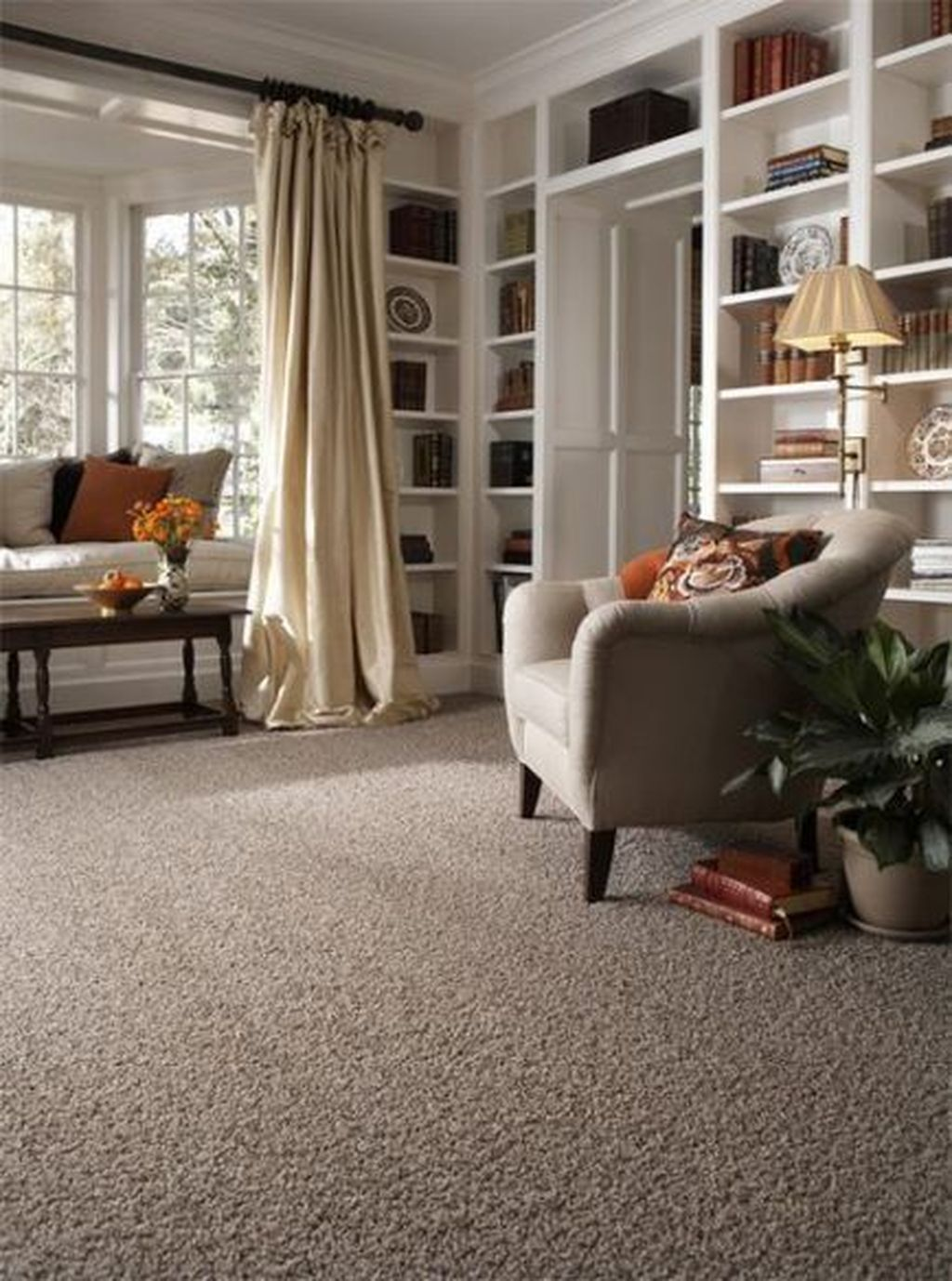 Fascinating Living Room With Carpet Decorating Ideas 10