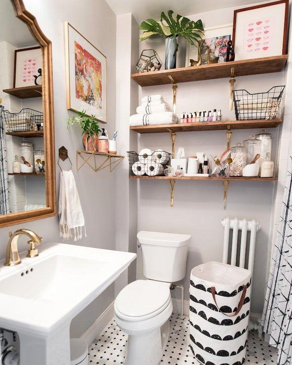 Fascinating Simple Apartment Bathroom Decor Ideas 02