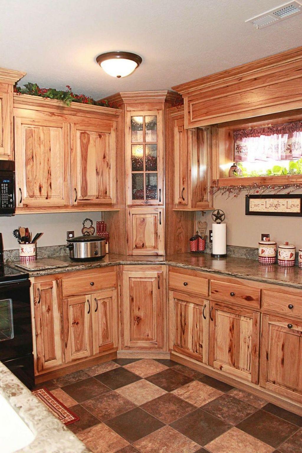 Nice Rustic Farmhouse Kitchen Cabinets Design Ideas 06 ...