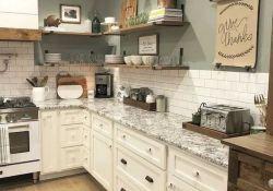 Nice Rustic Farmhouse Kitchen Cabinets Design Ideas 07