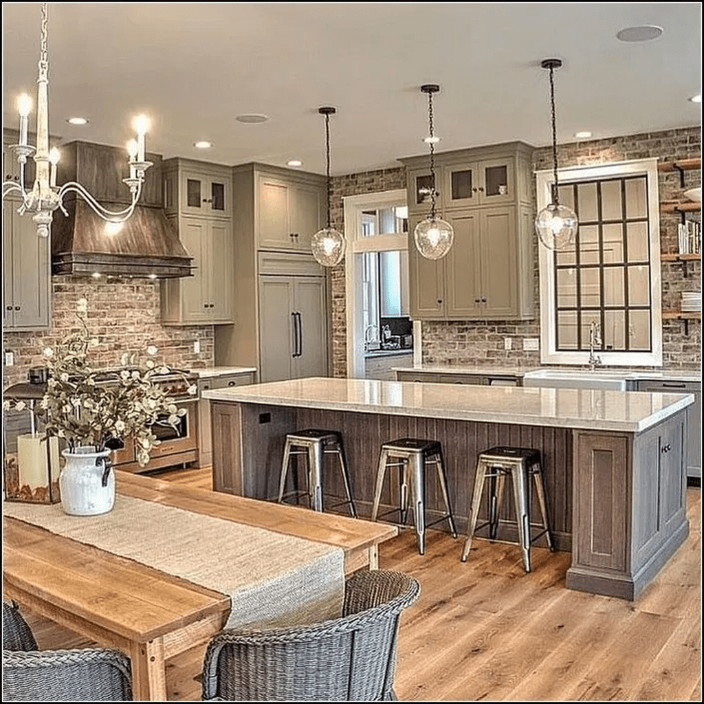 Nice Rustic Farmhouse Kitchen Cabinets Design Ideas 12