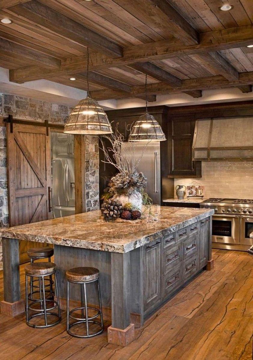 Nice Rustic Farmhouse Kitchen Cabinets Design Ideas 18