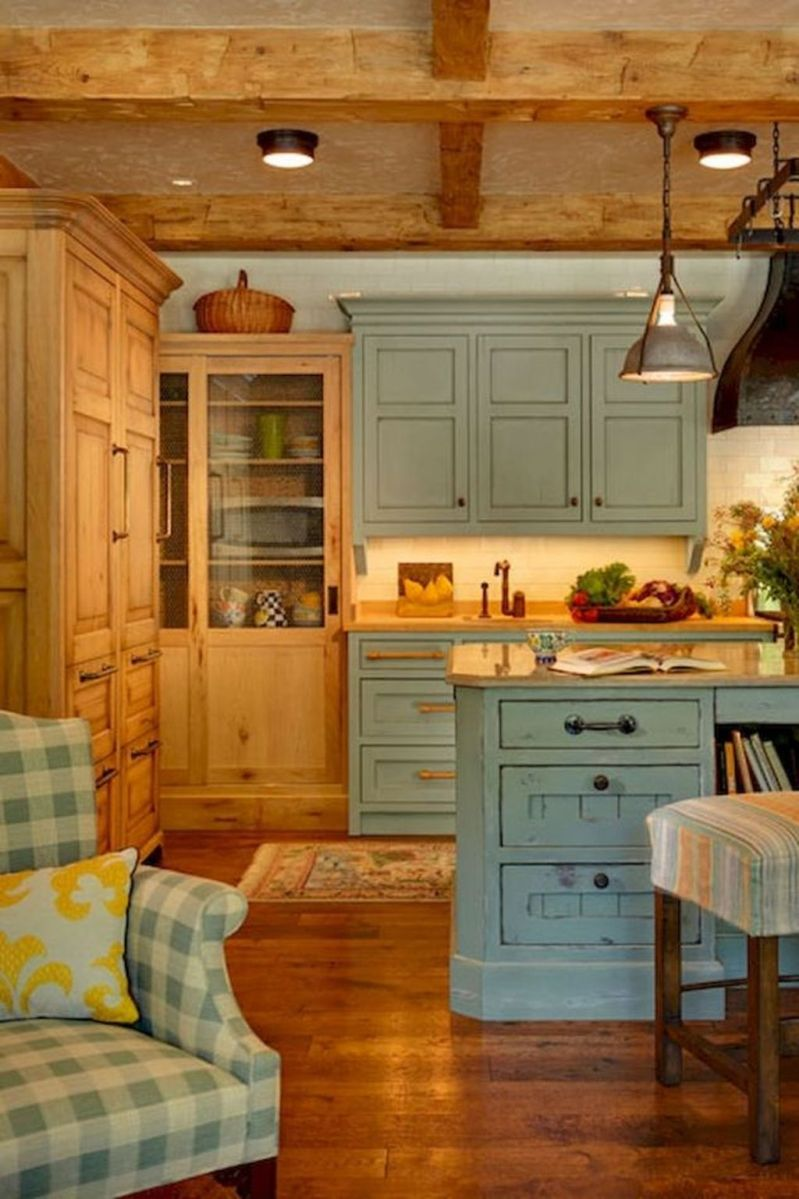Nice Rustic Farmhouse Kitchen Cabinets Design Ideas 19