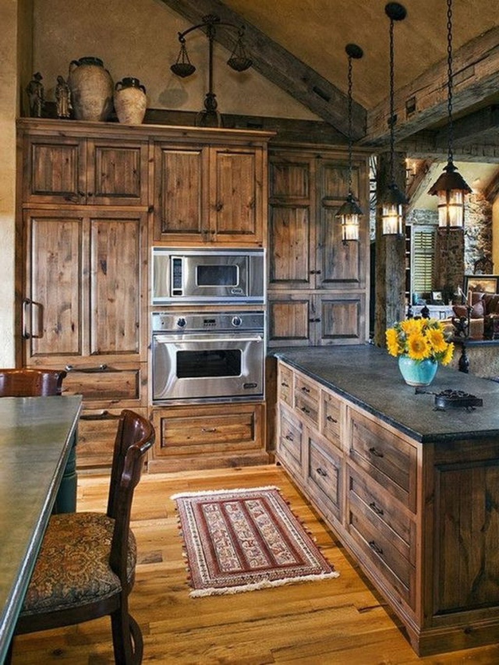 Nice Rustic Farmhouse Kitchen Cabinets Design Ideas 20