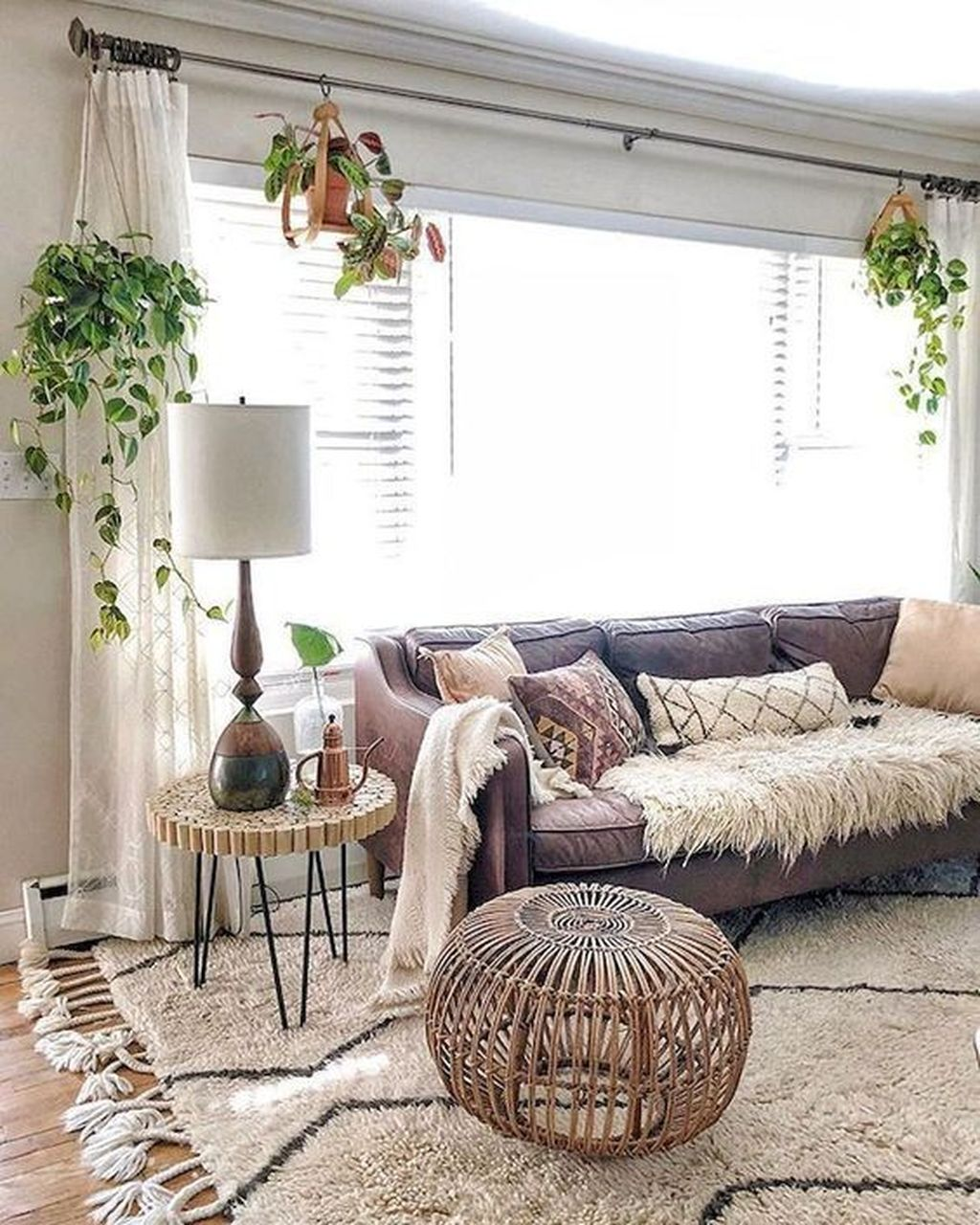 The Best Rustic Bohemian Living Room Decor Ideas 07