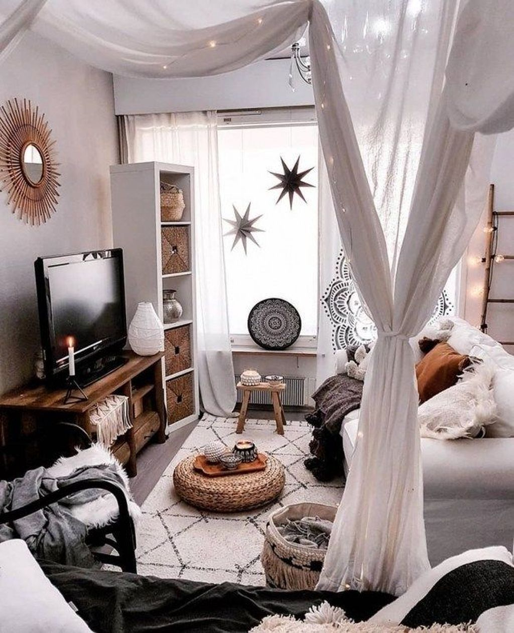 The Best Rustic Bohemian Living Room Decor Ideas 10