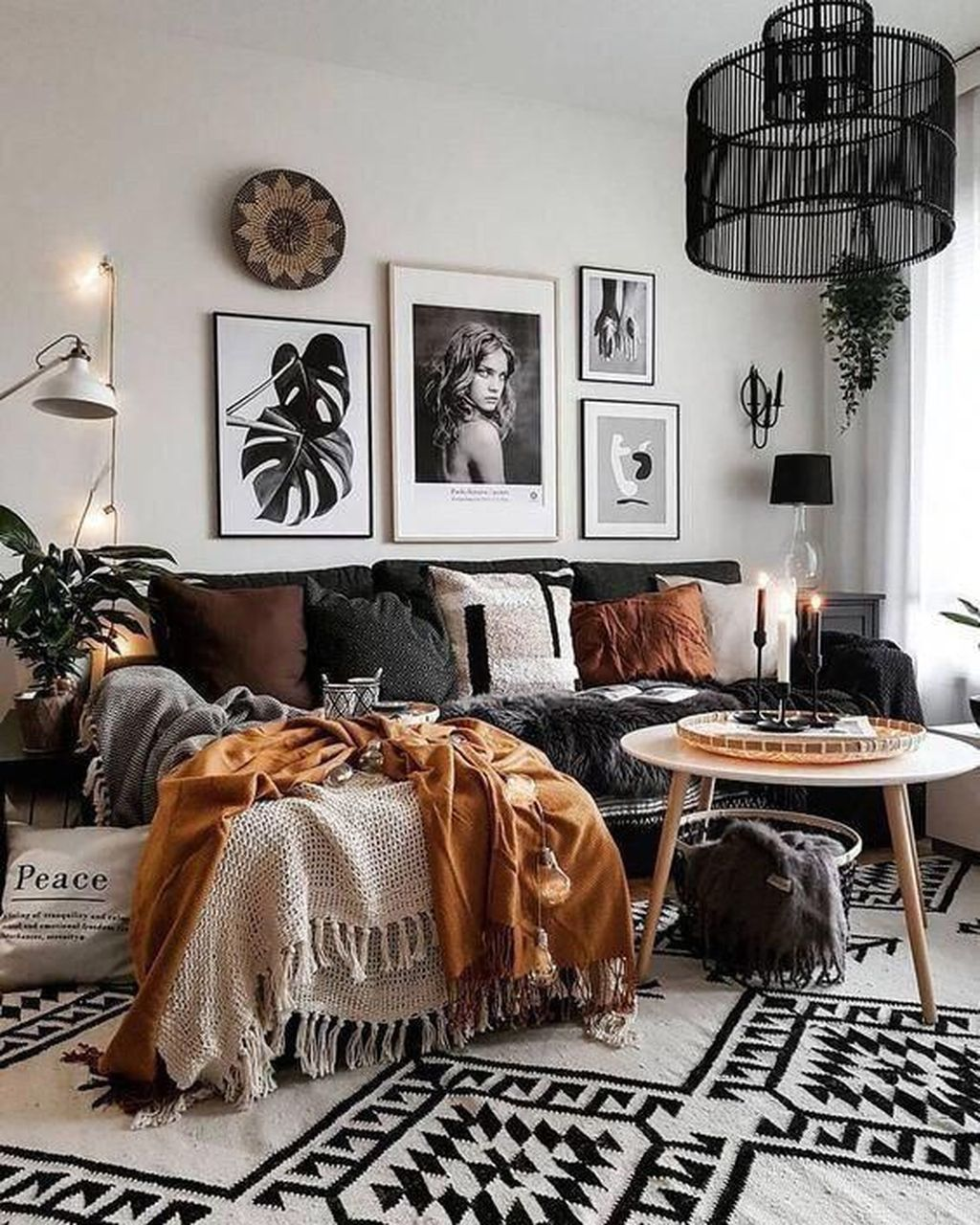 The Best Rustic Bohemian Living Room Decor Ideas 11