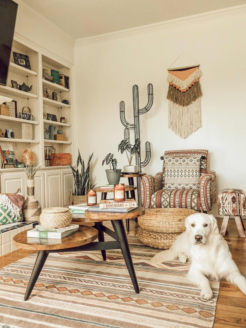 The Best Rustic Bohemian Living Room Decor Ideas 16