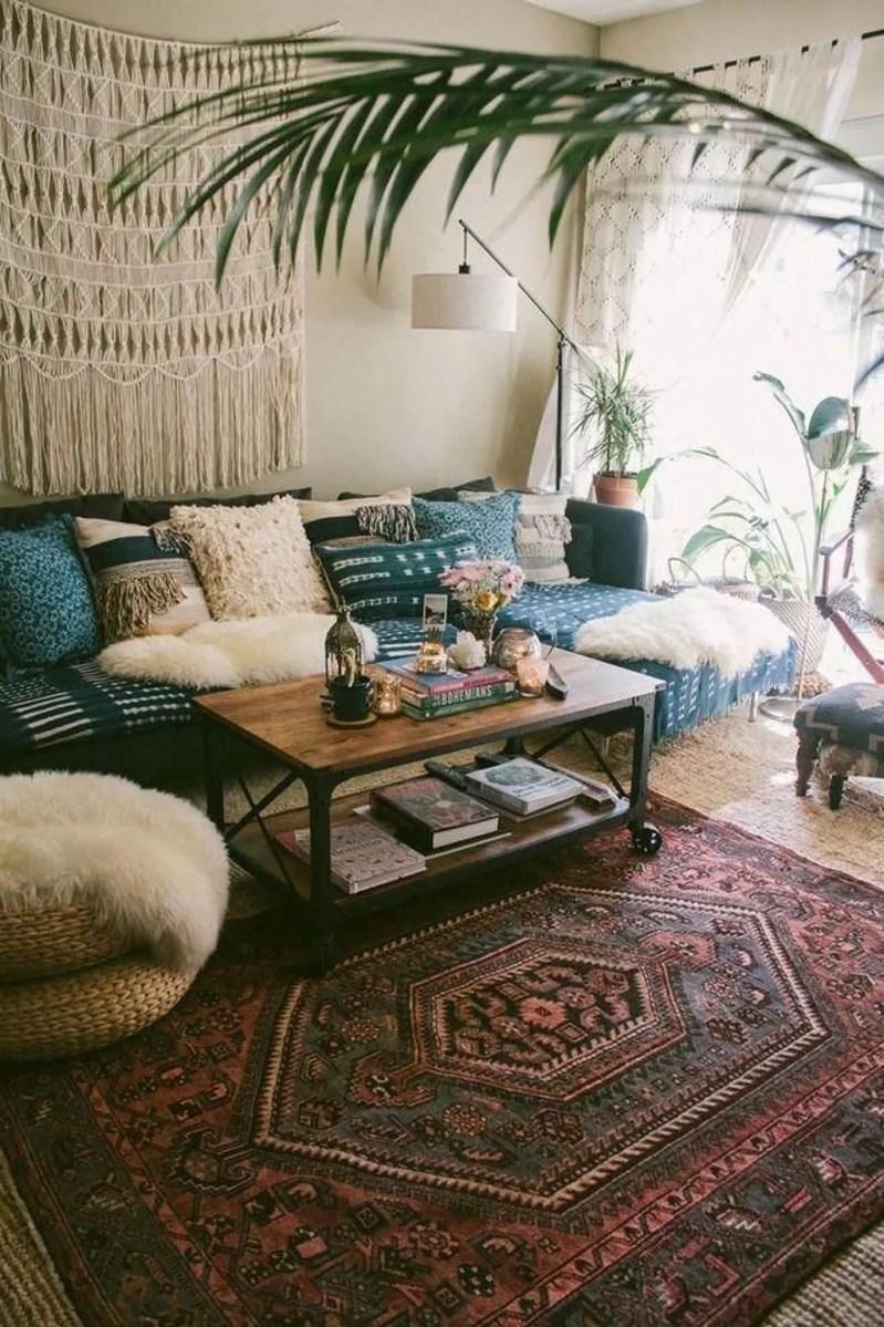 The Best Rustic Bohemian Living Room Decor Ideas 23