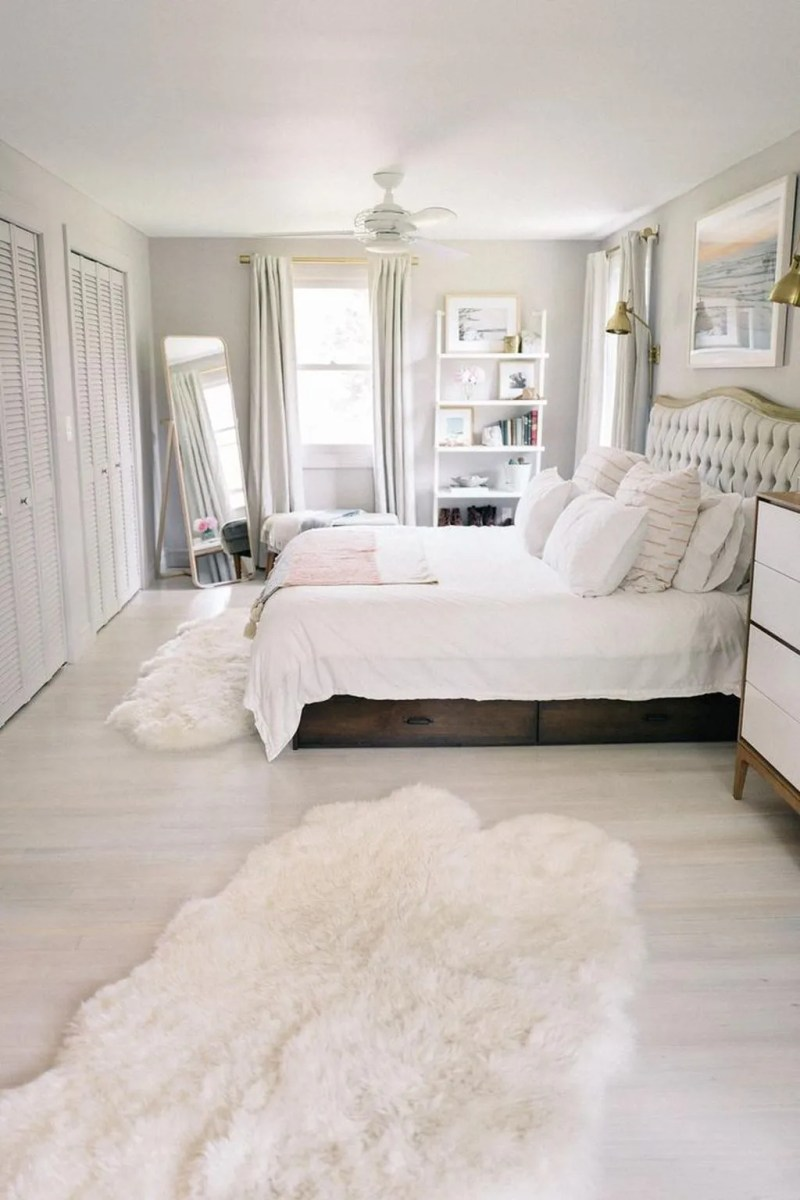 The Best White Master Bedroom Design And Decoration Ideas 33