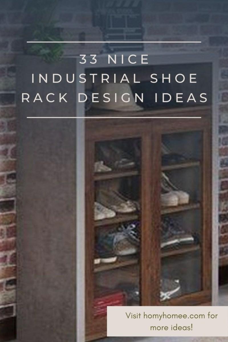 33 Nice Industrial Shoe Rack Design Ideas