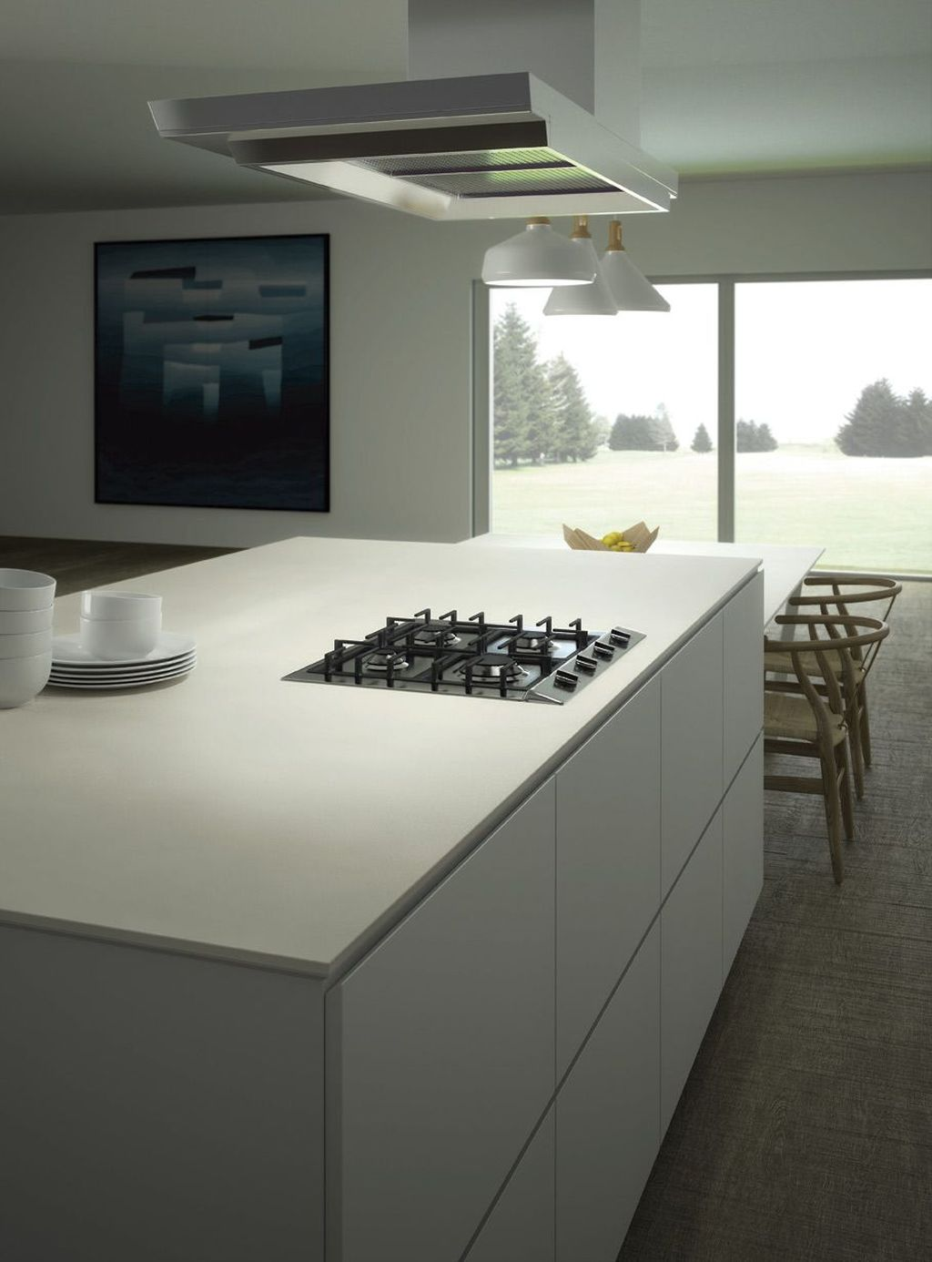 Beautiful Kitchen Design Ideas With Porcelain Slab Countertop 02