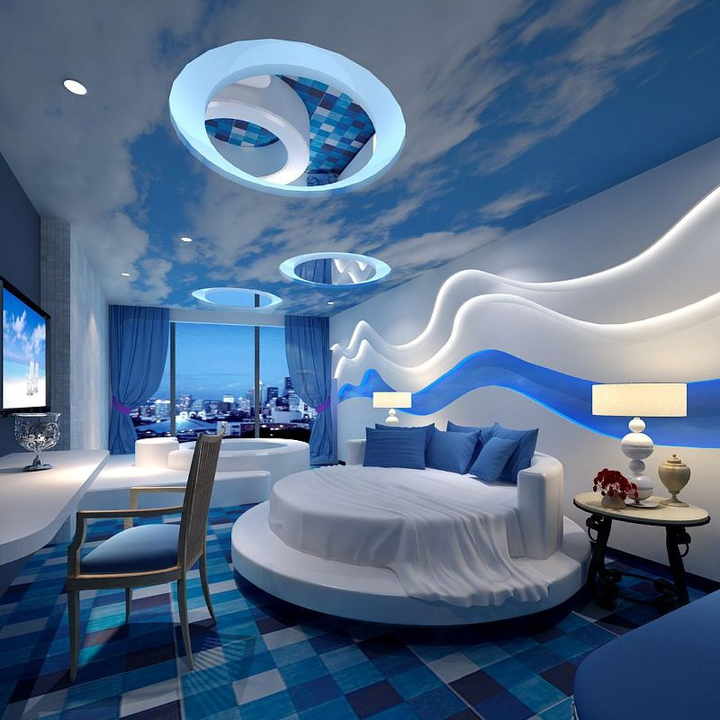 Fabulous Sky Bedroom Theme Decoration Ideas 26