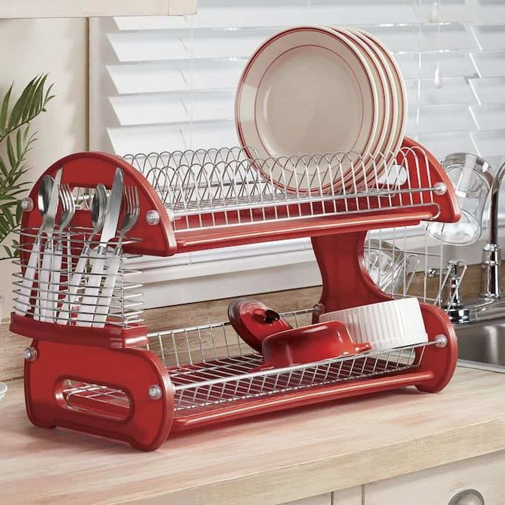 Inspiring Dish Rack Ideas For Your Kitchen 03
