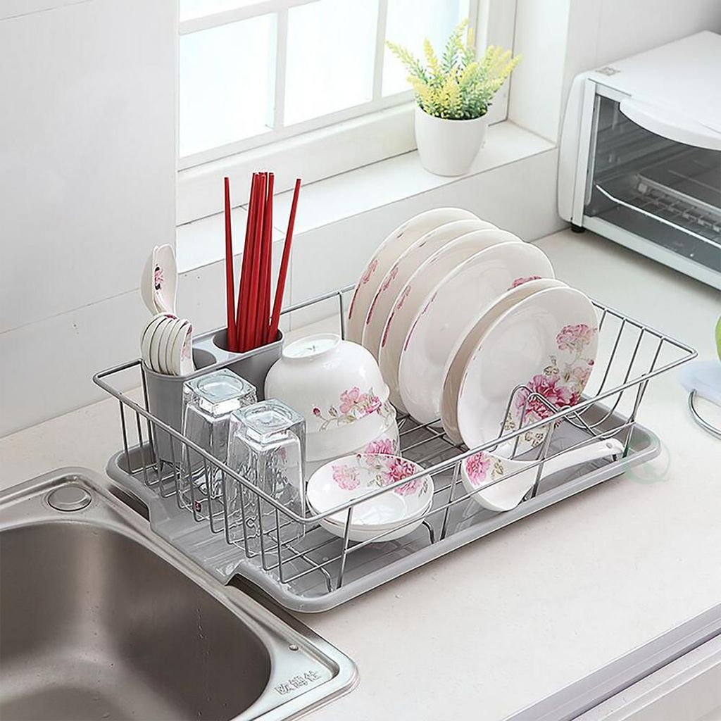Inspiring Dish Rack Ideas For Your Kitchen 14