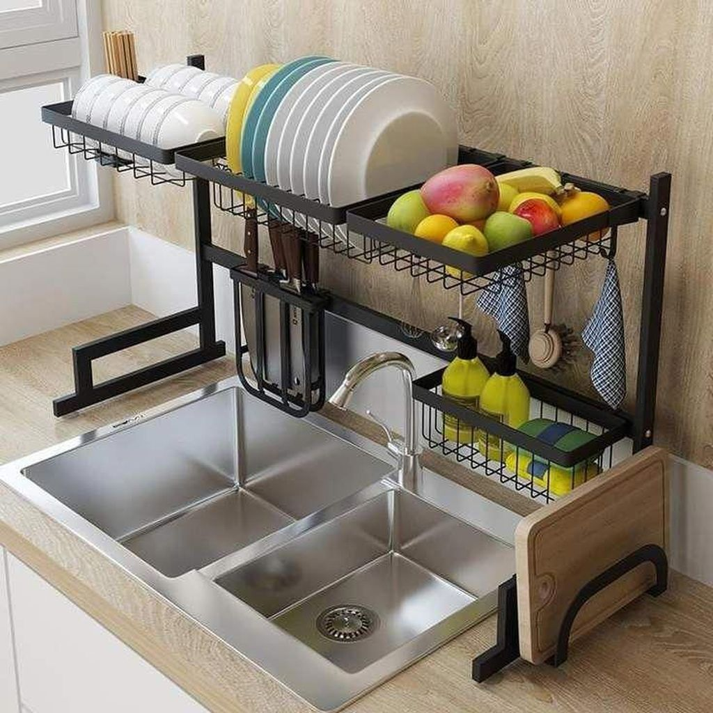 Inspiring Dish Rack Ideas For Your Kitchen 24