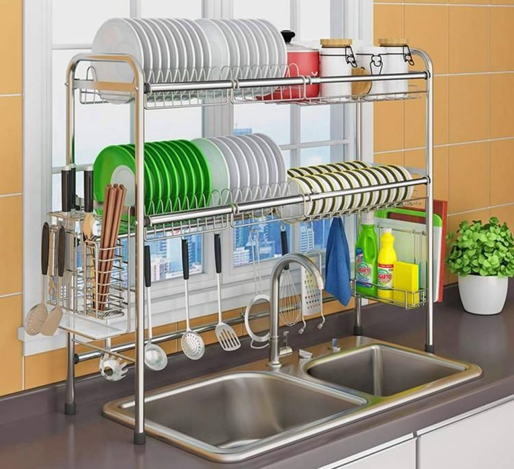 Inspiring Dish Rack Ideas For Your Kitchen 33