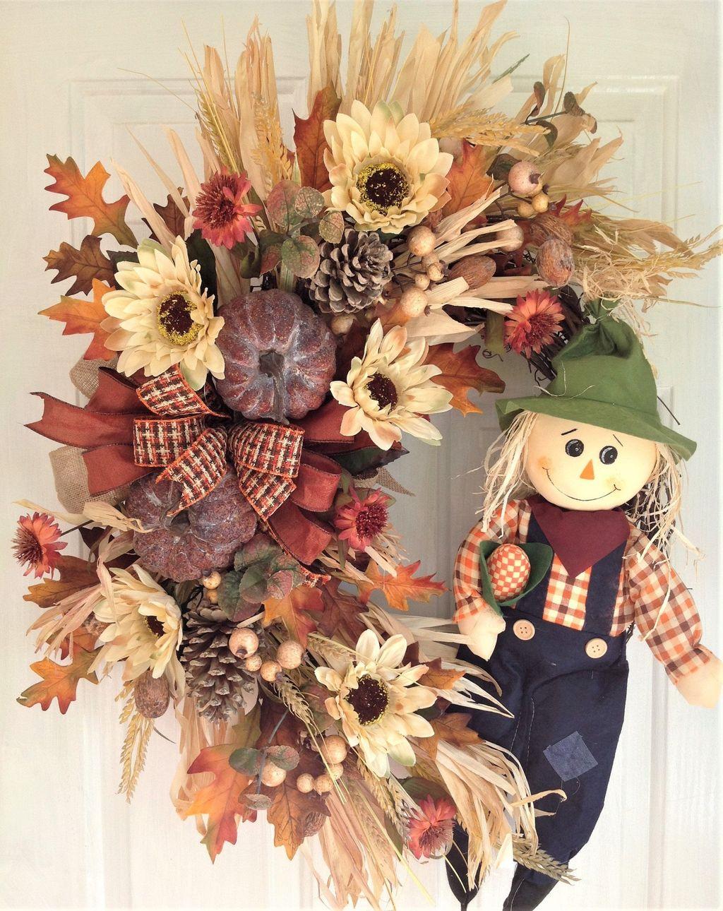 Inspiring Thanksgiving Front Door Decor Ideas 03