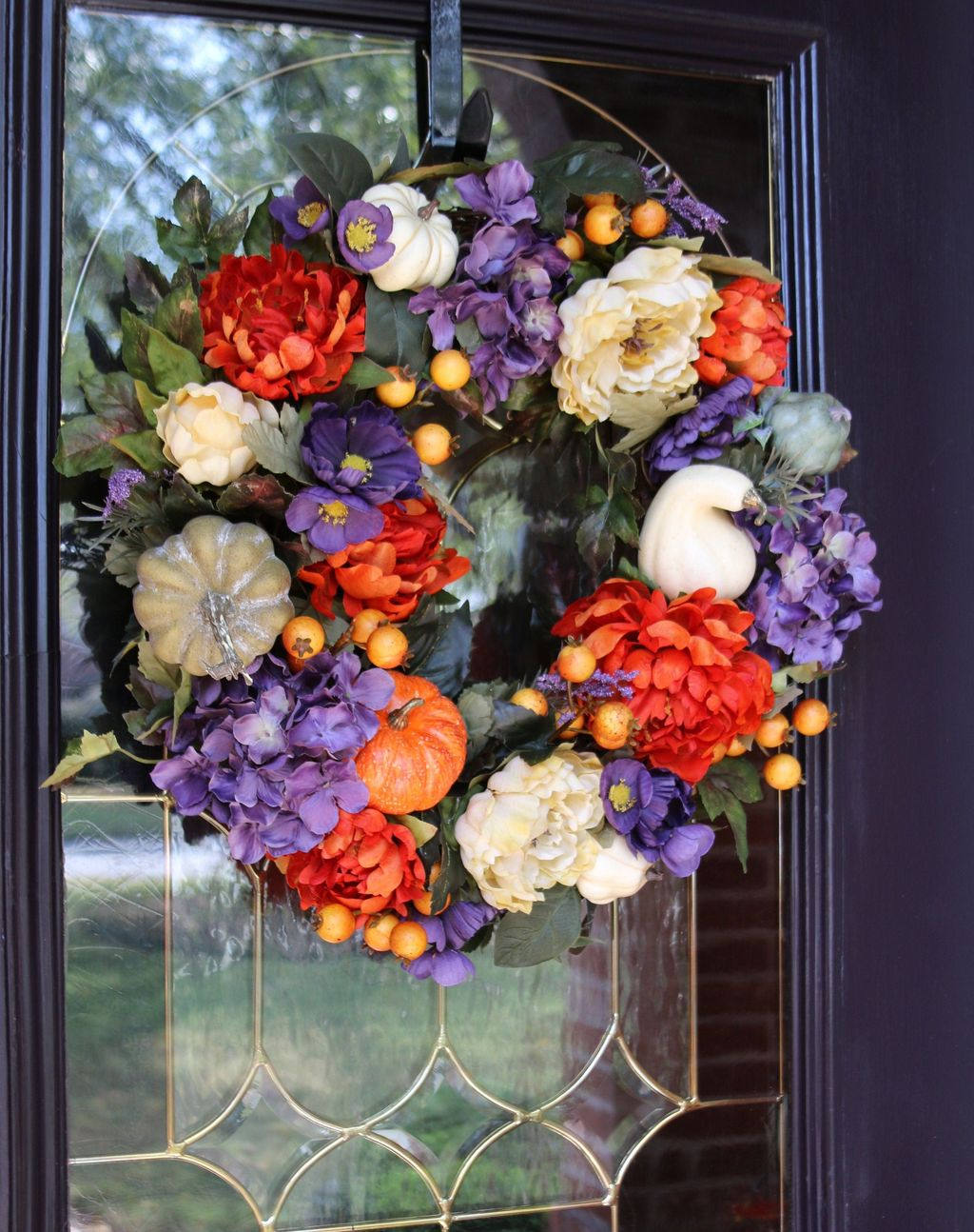 Inspiring Thanksgiving Front Door Decor Ideas 04