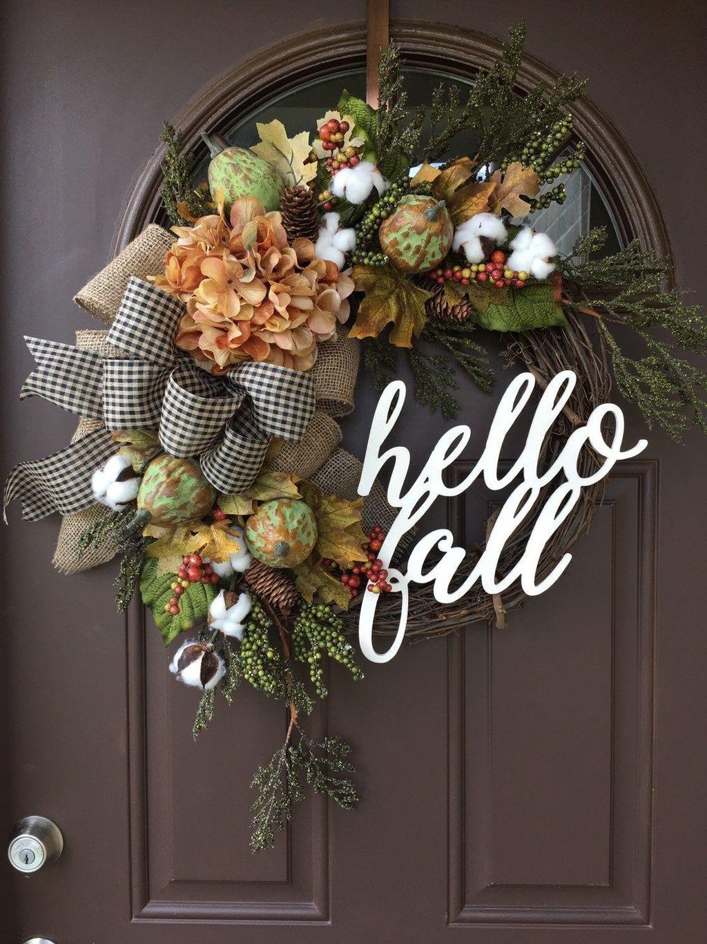 Inspiring Thanksgiving Front Door Decor Ideas 06