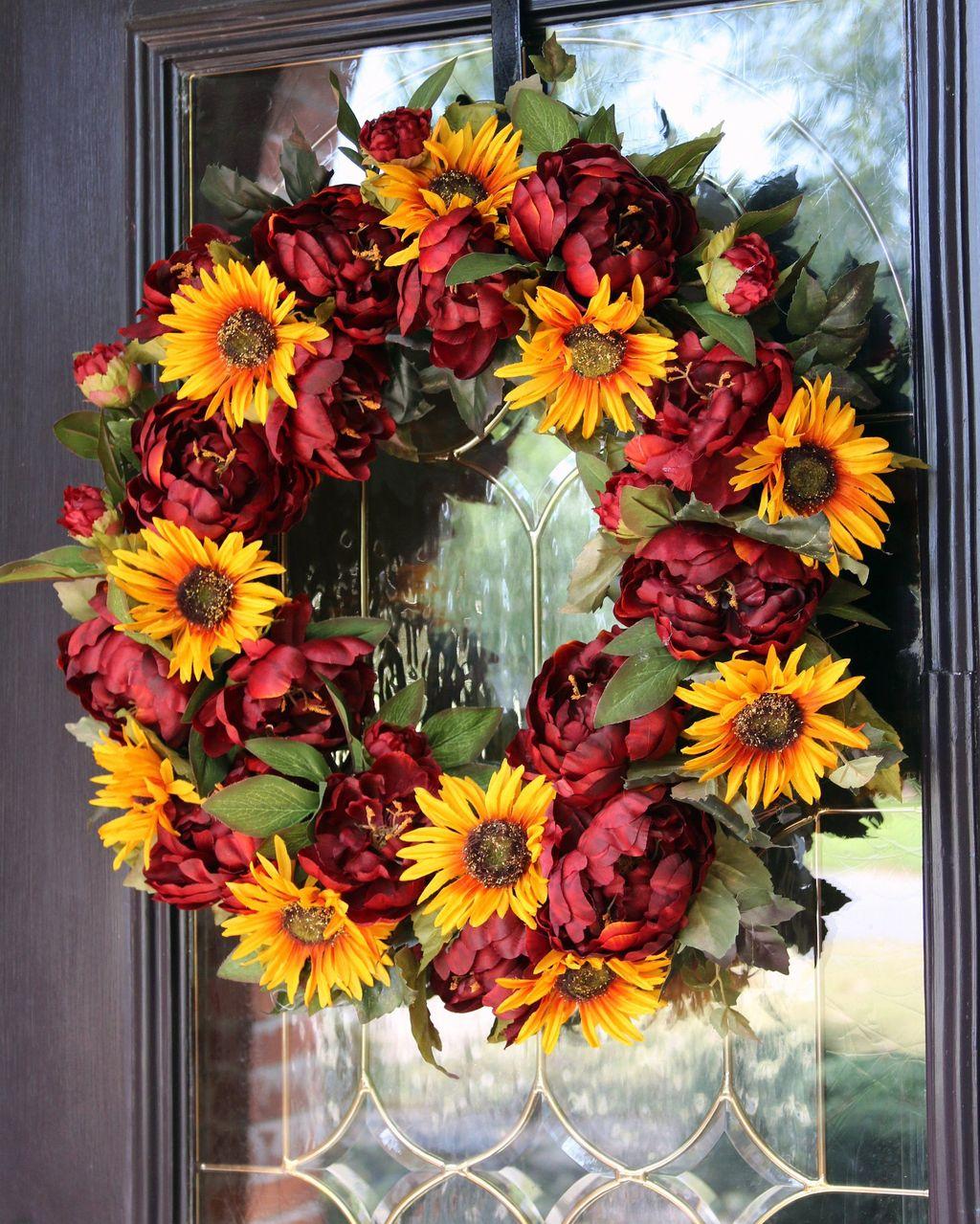 Inspiring Thanksgiving Front Door Decor Ideas 23
