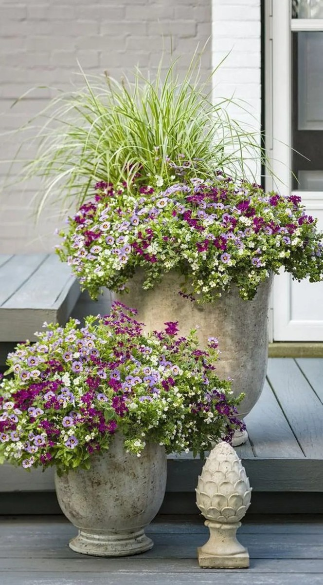 Lovely Combination Planting Container Gardening Ideas 03