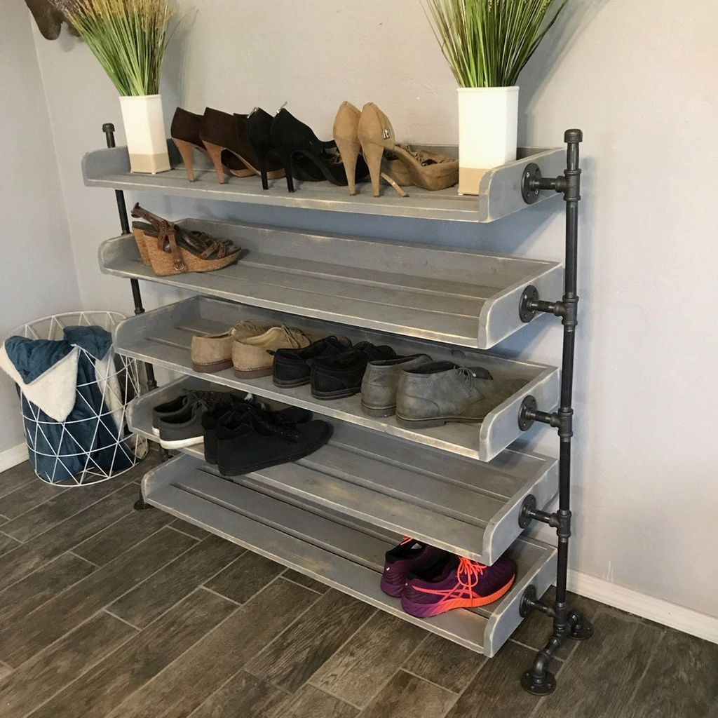 Nice Industrial Shoe Rack Design Ideas 05