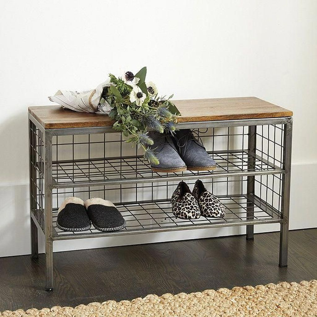 Nice Industrial Shoe Rack Design Ideas 09