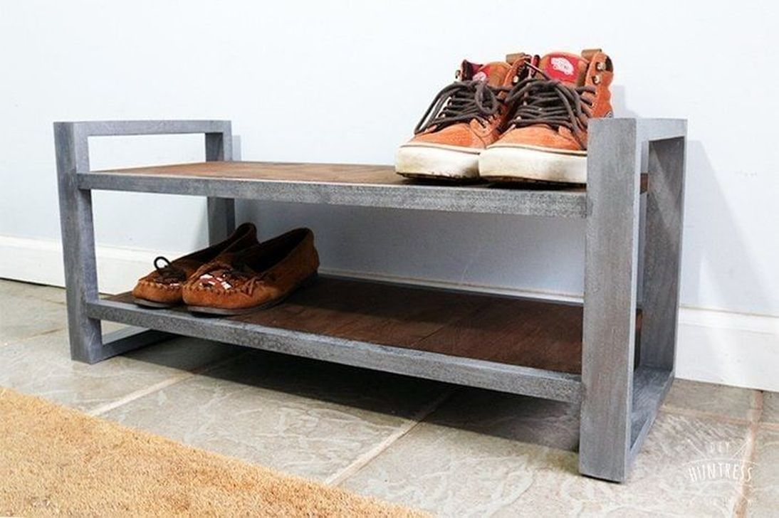 Nice Industrial Shoe Rack Design Ideas 21