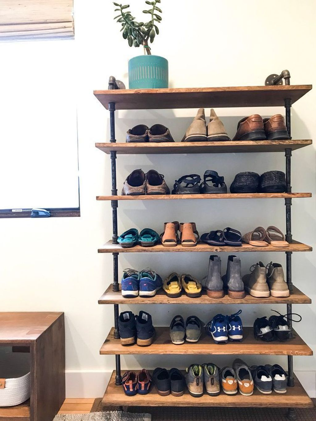 Nice Industrial Shoe Rack Design Ideas 33