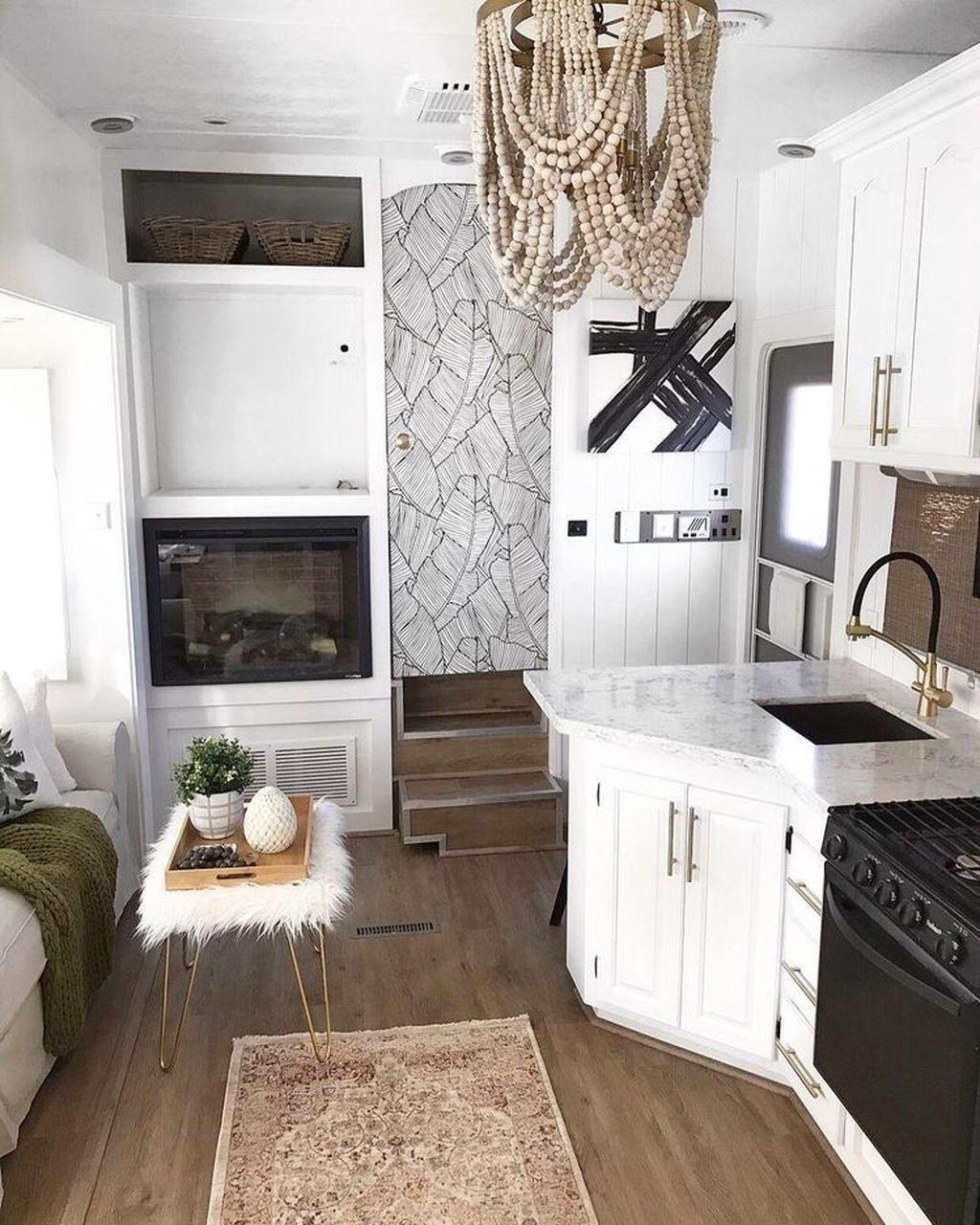 Nice RV Camper Remodel Ideas 32