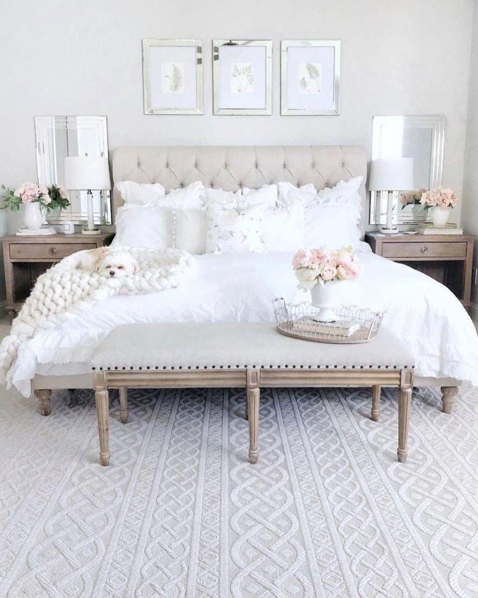 Popular White Master Bedroom Furniture Ideas 03
