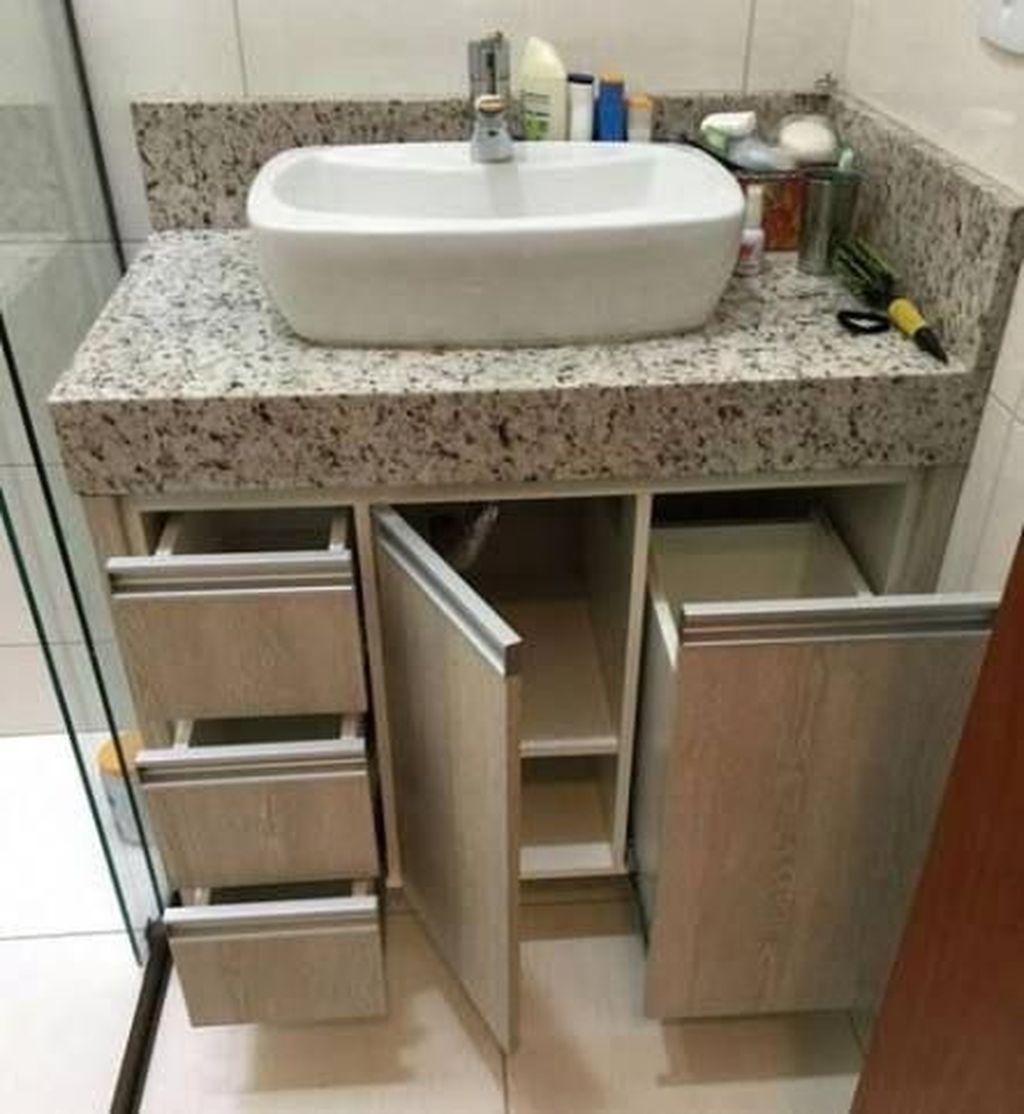 Stunning Bathroom Storage Design Ideas 06