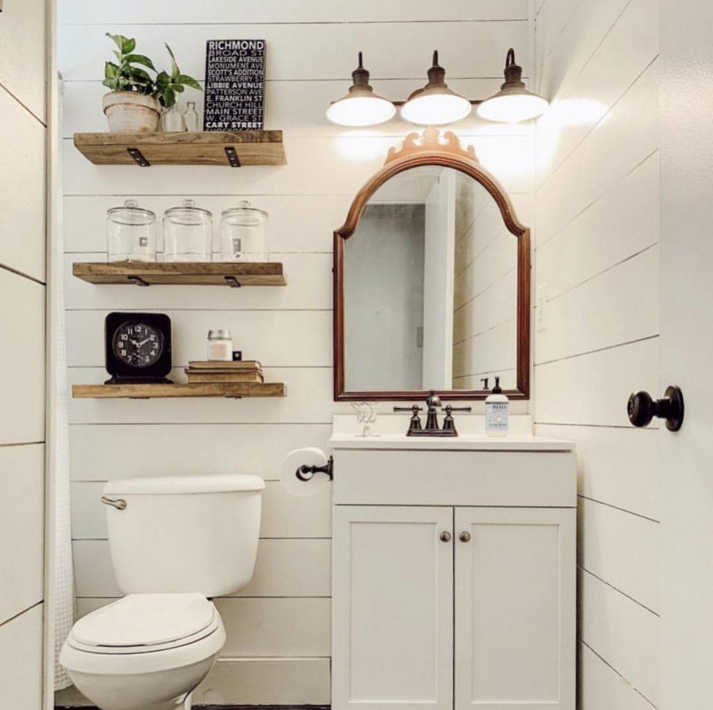 Stunning Bathroom Storage Design Ideas 13