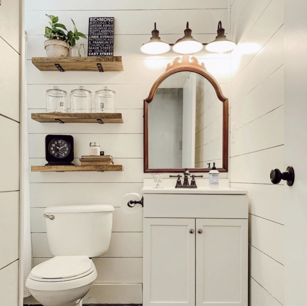 Stunning Bathroom Storage Design Ideas 13