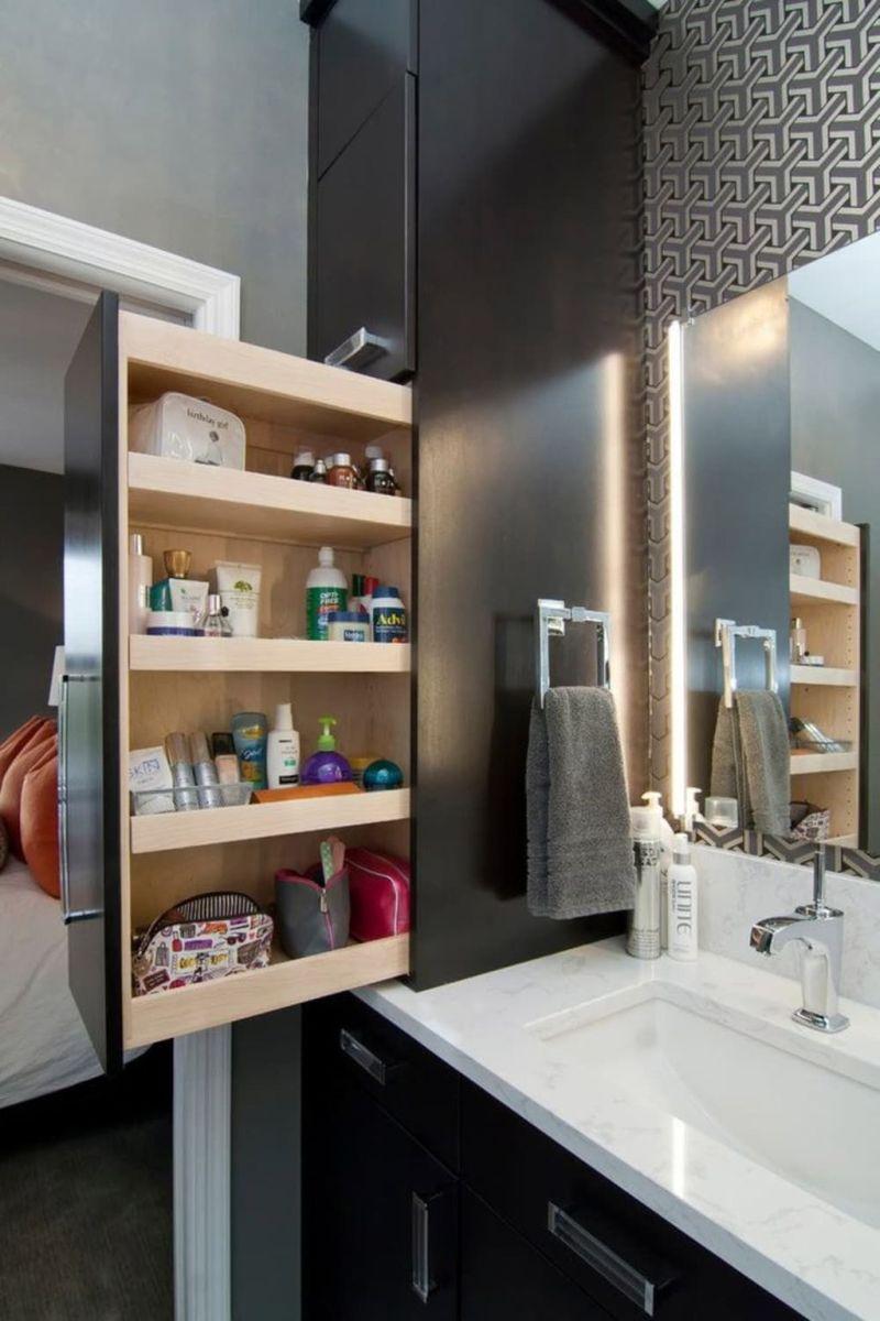 Stunning Bathroom Storage Design Ideas 16