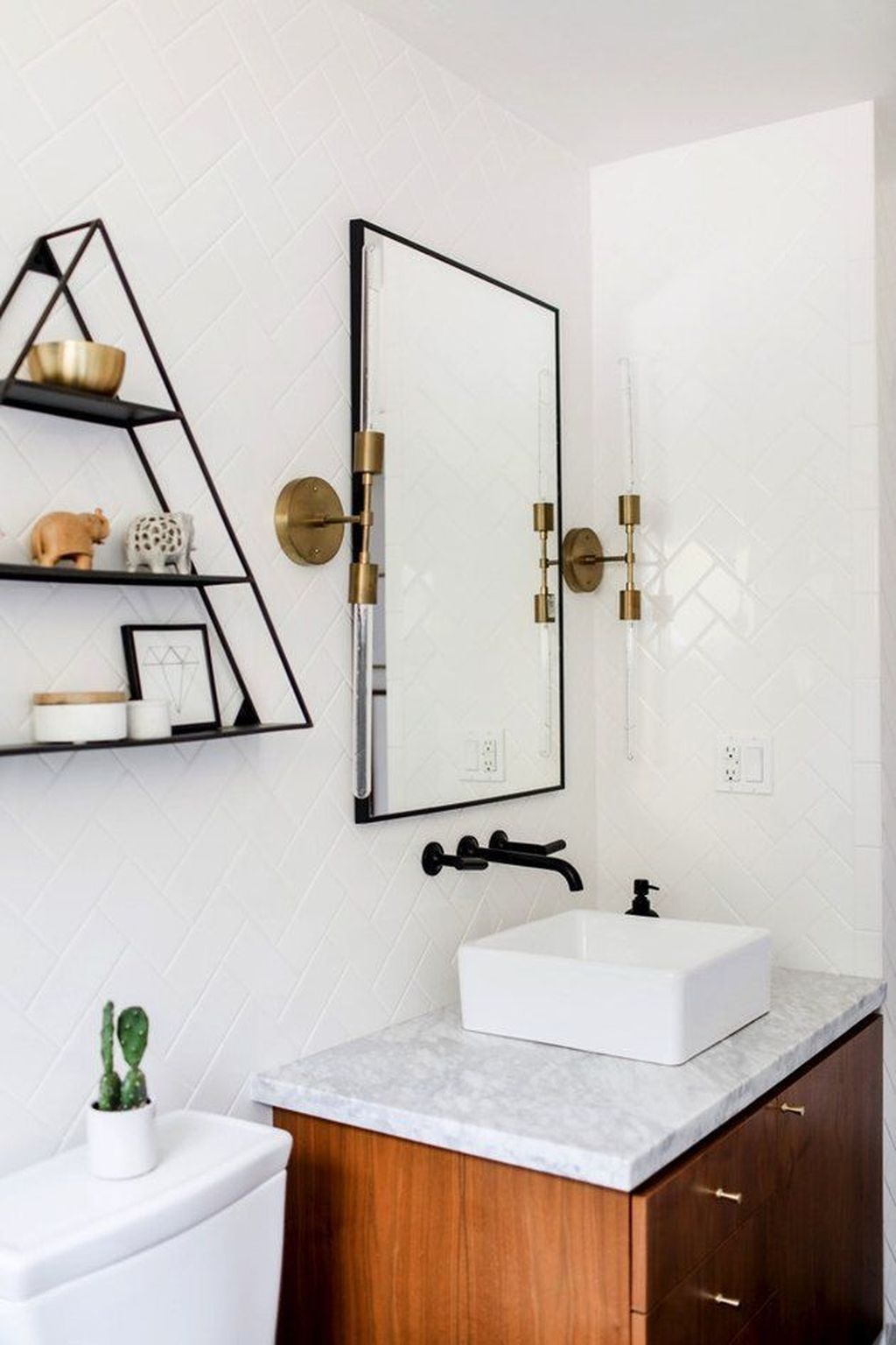 Admirable Rustic Modern Bathroom Design And Decor Ideas 11